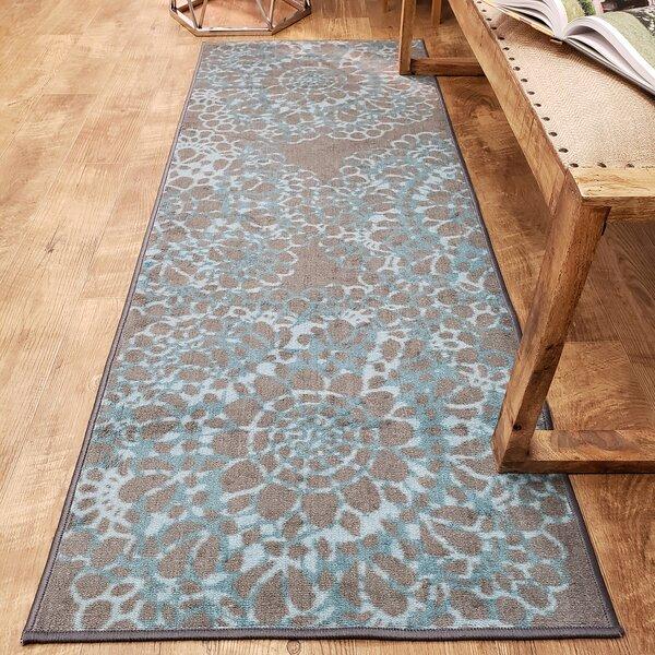 Feltman Lace Blue Area Rug by Ebern Designs