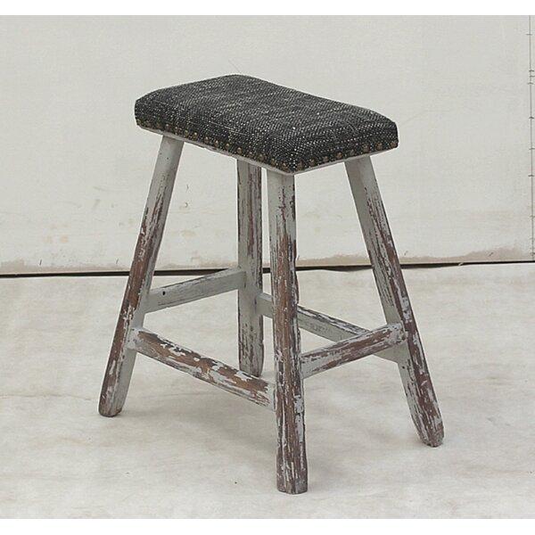 Vintage Upholstered Vanity Stool by Sarreid Ltd