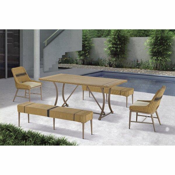 Wynn 5 Piece Dining Set with Cushions by Bayou Breeze