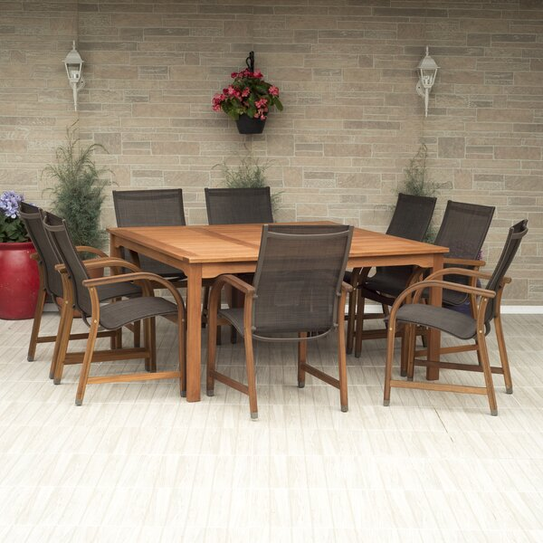 Ely 9 Piece Dining Set By Beachcrest Home by Beachcrest Home Best