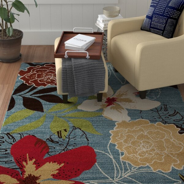 Vasser Tropical Blue/Red Indoor/Outdoor Area Rug by Winston Porter