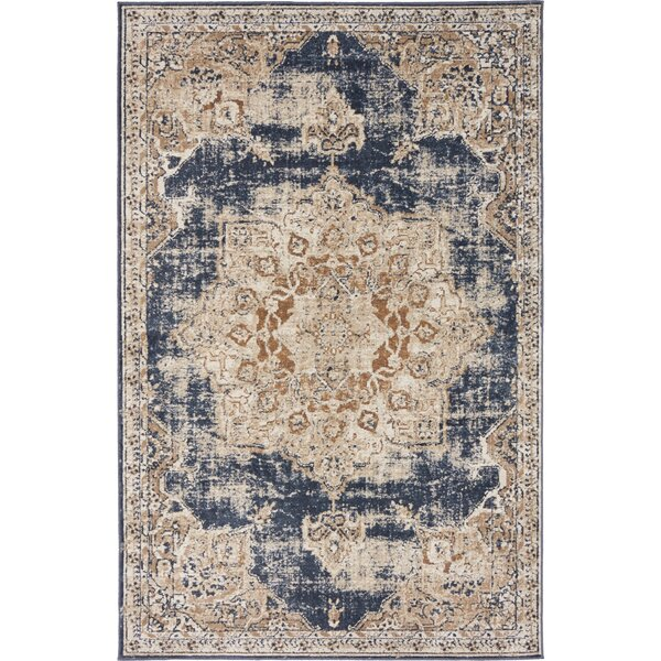 Abbeville Power Loom Dark Blue Area Rug by Laurel Foundry Modern Farmhouse