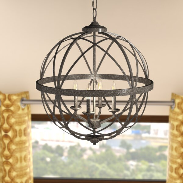 Rodden 4 - Light Candle Style Globe Chandelier by World Menagerie World Menagerie