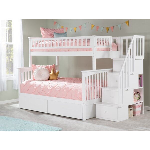 Abel Twin Over Full Bunk Bed with Drawers by Harriet Bee