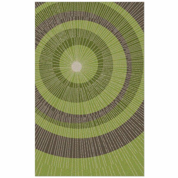 Eccentric Hand-Tufted Green/Sable Area Rug by notNeutral