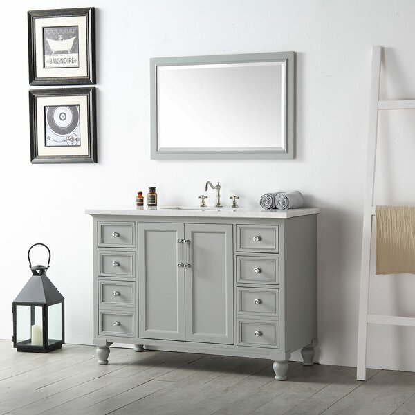 Dulvert 48 Single Bathroom Vanity Set with Mirror