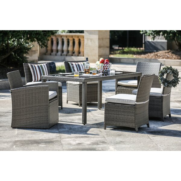 Berrier 7 Piece Dining Set with Cushions by One Allium Way