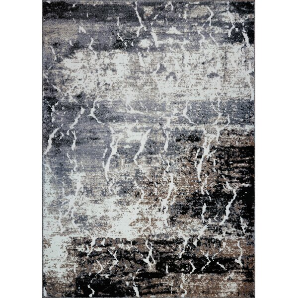 Anitra Machine Woven Gray Area Rug by 17 Stories