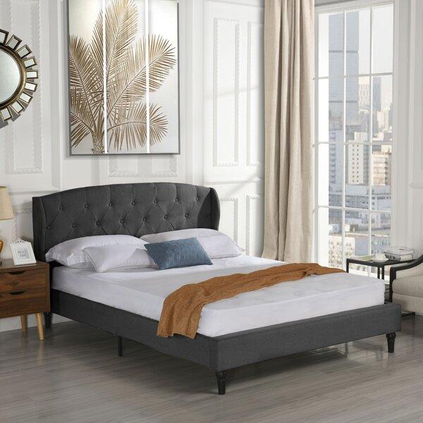Rebello Classic Upholstered Platform Bed Charlton Home MHUS1642