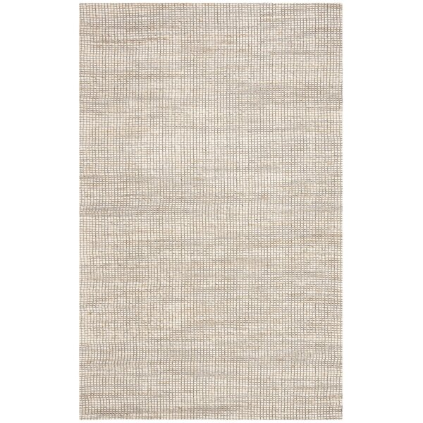 Burner Hand-Woven Ivory Area Rug by Highland Dunes