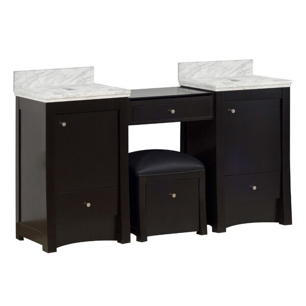 Alburgh 61 Double Bathroom Vanity Set by Latitude Run