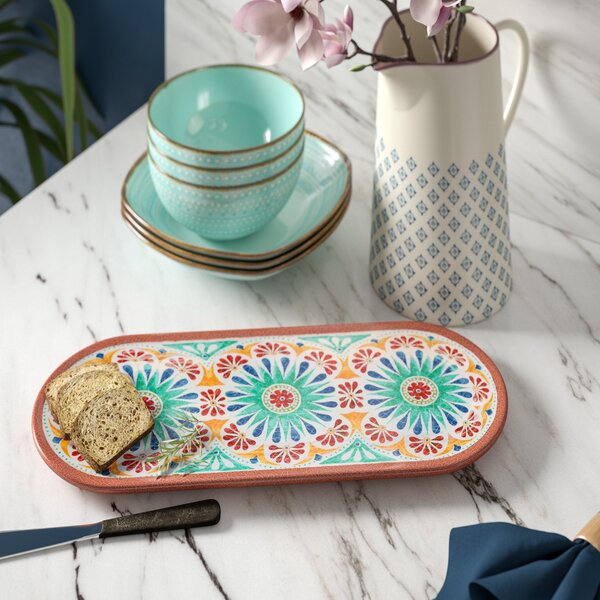 Adah Melamine Platter by Bungalow Rose