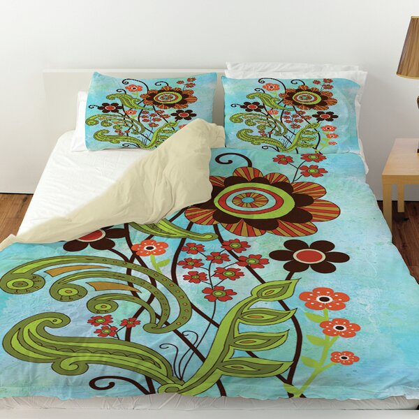 Flower Power Stems Duvet Cover by Manual Woodworkers & Weavers