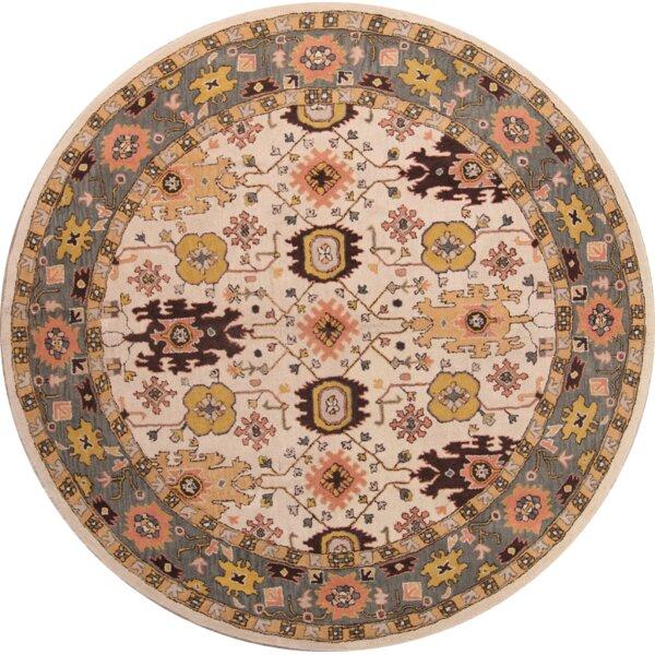Vinod Sultanabad Ziegler Oriental Hand-Tufted Wool Beige/Green/Red Area Rug by Bloomsbury Market
