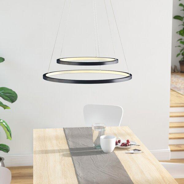 Queanbeyan Unique / Statement Tiered LED Chandelier by Orren Ellis Orren Ellis