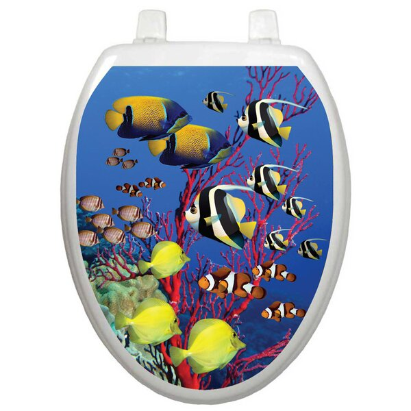 Themes Coral Reef Toilet Seat Decal by Toilet Tattoos
