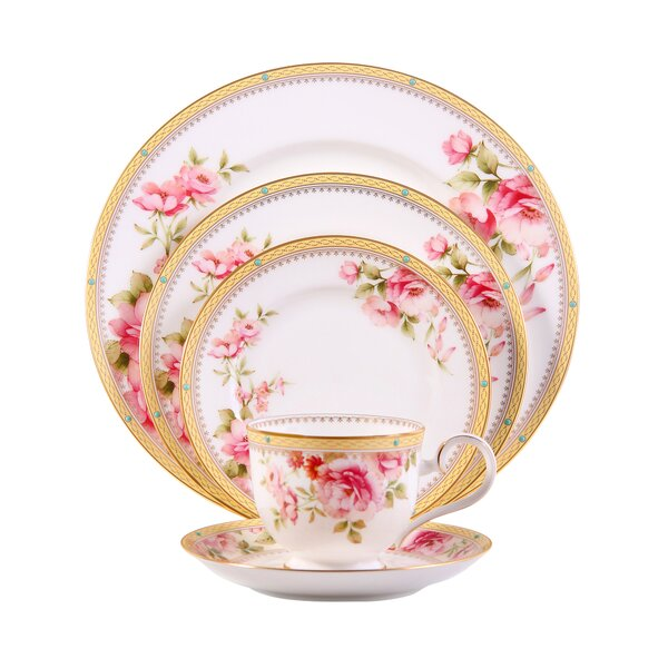Hertford Bone China 5 Piece Place Setting, Service for 1 by Noritake