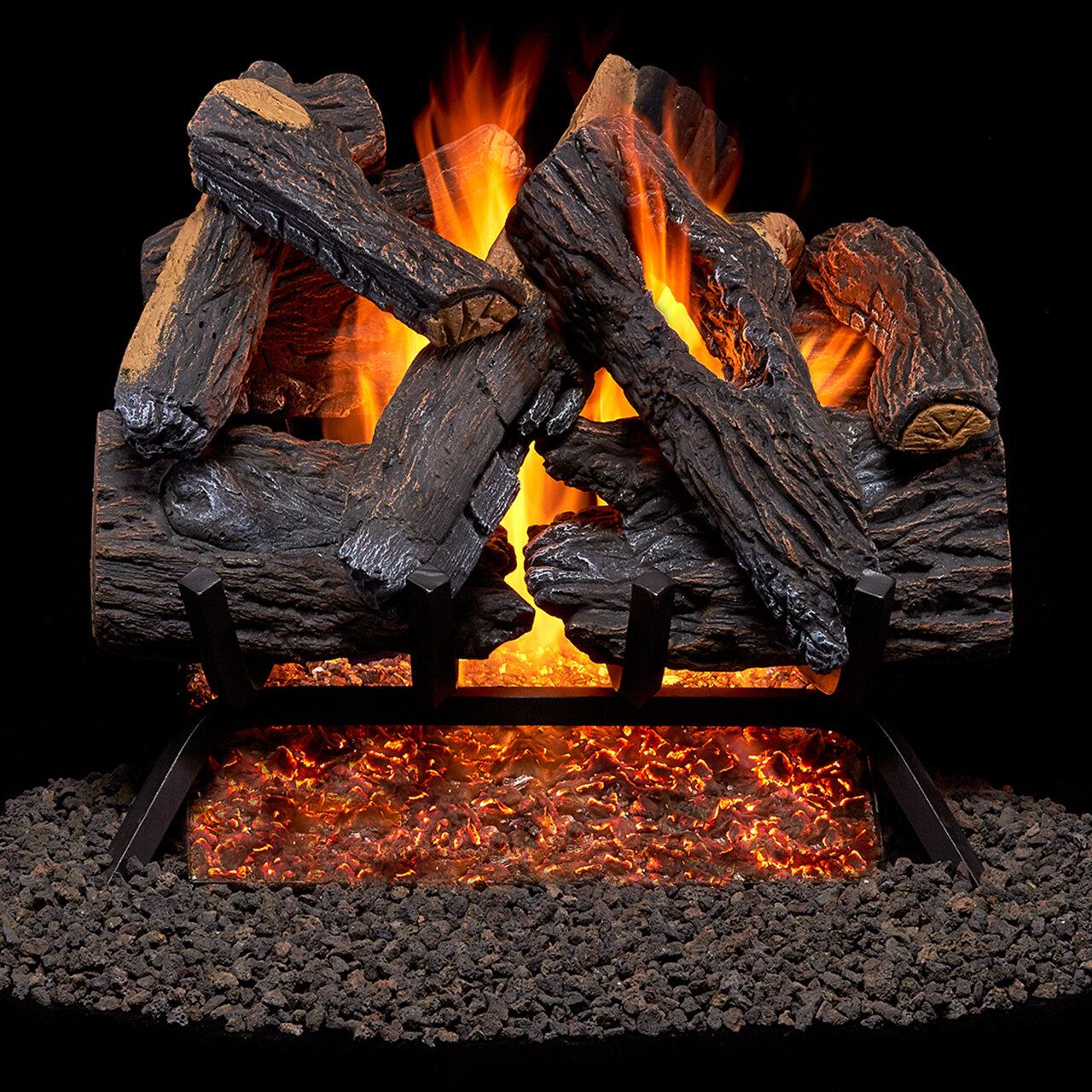 Duluth Forge Heartland Oak Vented Natural Gas Fireplace Log Set