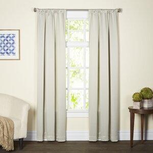 Madilynn Solid Room Darkening Thermal Rod Pocket Single Curtain Panel
