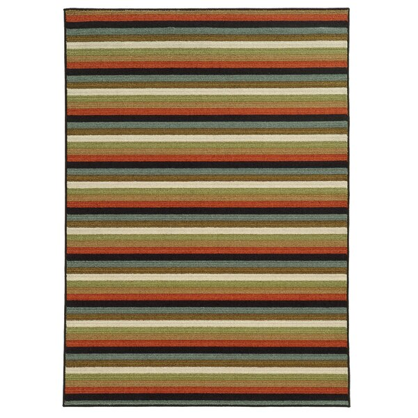 Roger Rust/Brown Area Rug by Threadbind