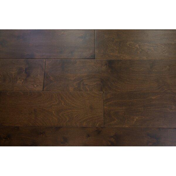 Stockholm 7-1/2 Engineered Birch Hardwood Flooring in Brunette by Branton Flooring Collection