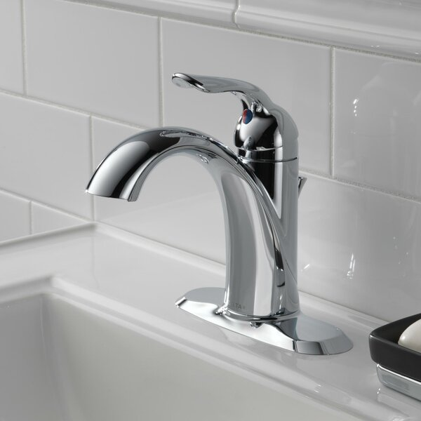 Lahara Single hole Bathroom Faucet with Drain Assembly and Diamond Seal Technology by Delta