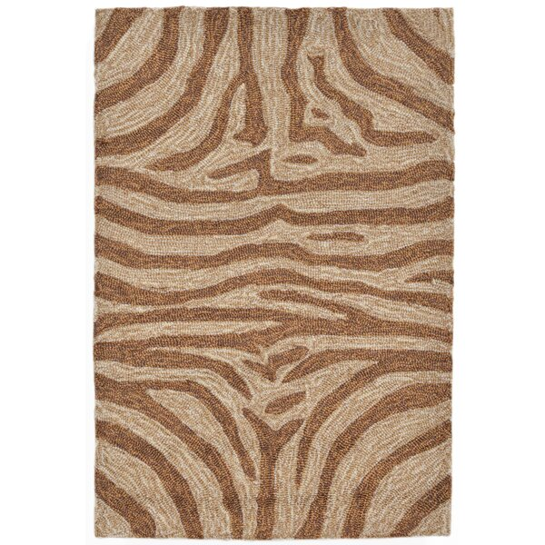 Fellman Brown Zebra Outdoor Rug by Bloomsbury Market