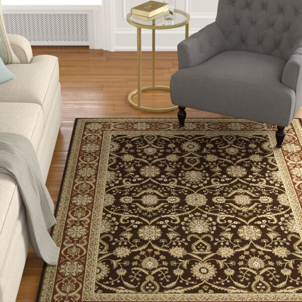 Lyonsdale Dark Brown Area Rug by Alcott Hill