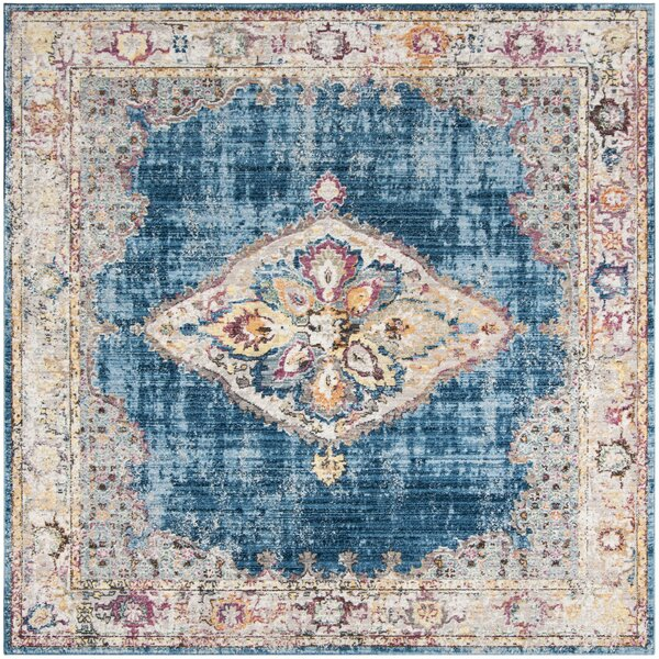 Masvingo Blue Area Rug by Bungalow Rose