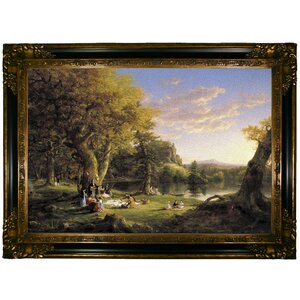 'The Pic-Nic 1846' Framed Graphic Art Print on Canvas by Astoria Grand