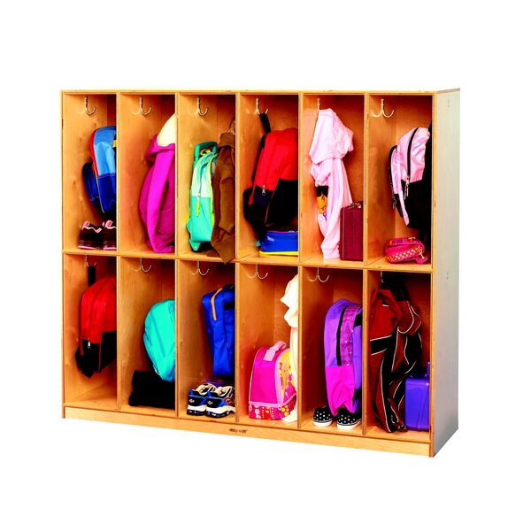 2 Tier 6 Wide Coat Locker by Childcraft
