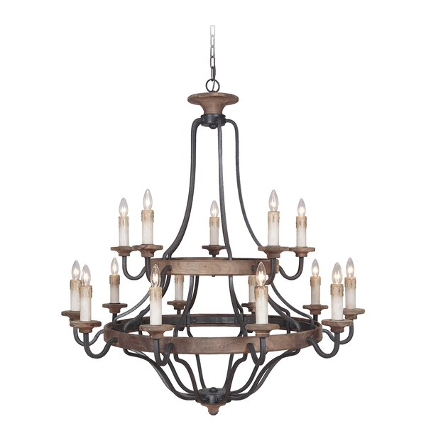 Elisabetta 15 - Light Candle Style Empire Chandelier by Laurel Foundry Modern Farmhouse Laurel Foundry Modern Farmhouse
