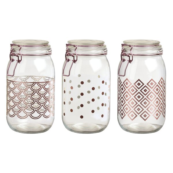 Preserving 3 Piece Kitchen Canister Set by Ebern Designs