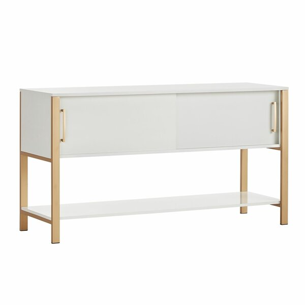 Asmus White and Gold TV Stand by Brayden Studio