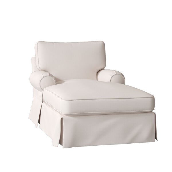 Deals Price Lily Slipcovered Chaise Lounge