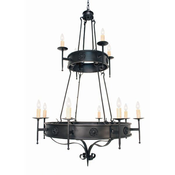 Lorenzo 12-Light Candle Style Tiered Chandelier by 2nd Ave Design 2nd Ave Design