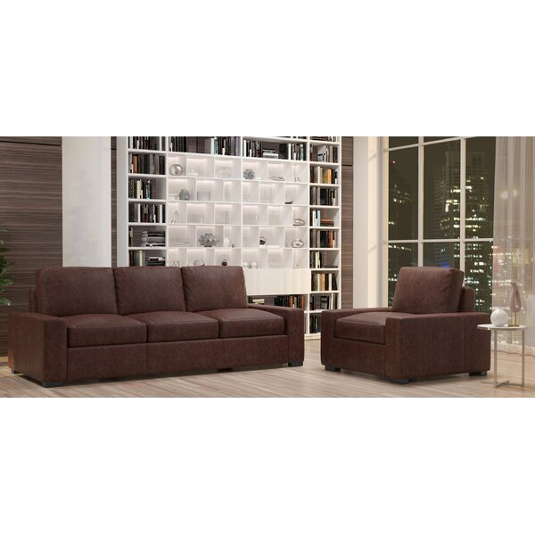 Howard 2 Piece Leather Living Room Set by Westland and Birch
