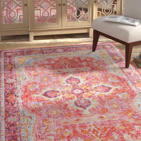 Montville Pink Area Rug by Bloomsbury Market