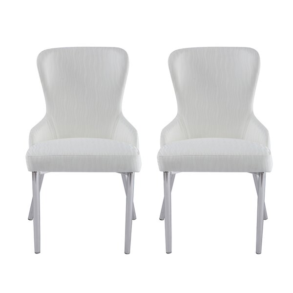 Wilder Upholstered Dining Chair (Set of 2) by Orren Ellis Orren Ellis
