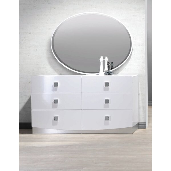 Rachna 6 Drawer Double Dresser with Mirror by Orren Ellis