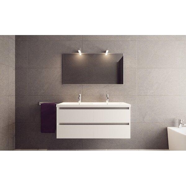 Alec 47 Wall Mounted Double Bathroom Vanity Set by Orren Ellis