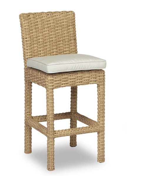 Leucadia 26 Patio Bar Stool with Cushion by Sunset West