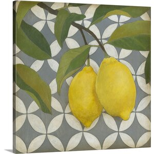 Fruit and Pattern I by Megan Meagher Graphic Art on Canvas by Great Big Canvas