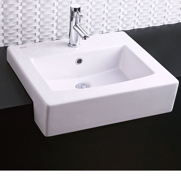 Universal Rectangular Drop-In Bathroom Sink with O