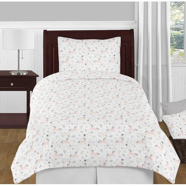 Unicorn 4 Piece Twin Comforter Set by Sweet Jojo Designs