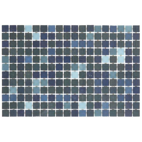Lexington 12 x 18 Glass Mosaic Tile in Pearl Blue by Itona Tile