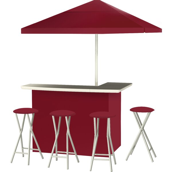 Darley Patio 9 Piece Bar Set by Red Barrel Studio