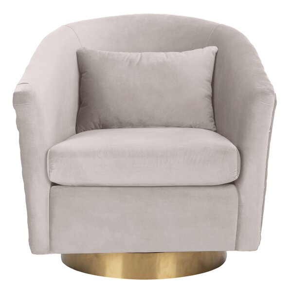 Clara Swivel Barrel Chair by Safavieh Couture Safavieh Couture