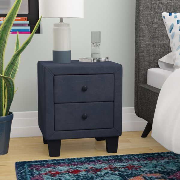 Bodnar 2 Drawer Nightstand by Wrought Studio