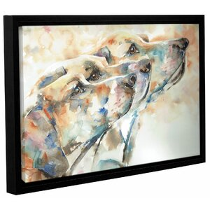 Dogs Framed Painting Print by Latitude Run